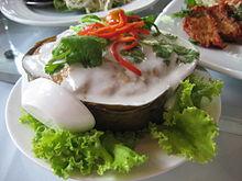 Ho mok pla, fish curry pâté