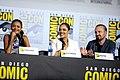 Thandie Newton, Tessa Thompson & Aaron Paul (48452337751).jpg
