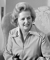 black-and-white photograph of a 49-year-old Thatcher at the White House