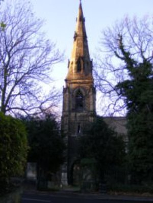 Sheffield General Cemetery - Image: The Anglican chapel sharrow general cemetery