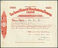 The Ascot Motor and Manufacturing Company Limited share certificate.jpg