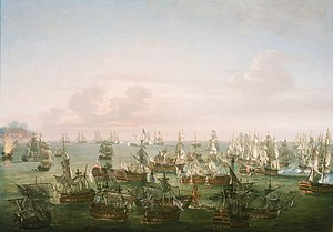The Battle of Trafalgar, 21 October 1805- End of the Action RMG BHC0549.jpg