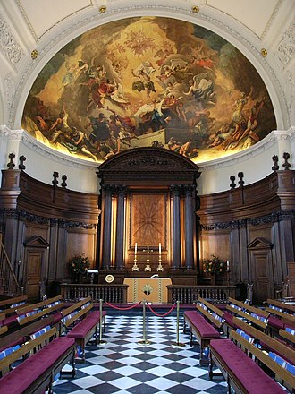 Royal Hospital Chelsea - The Chapel, Royal Hospital Chelsea (1681–91), by Christopher Wren