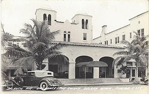 Delray Beach, Florida - The Colony Hotel, built in 1926, was designed by architect Martin L. Hampton.