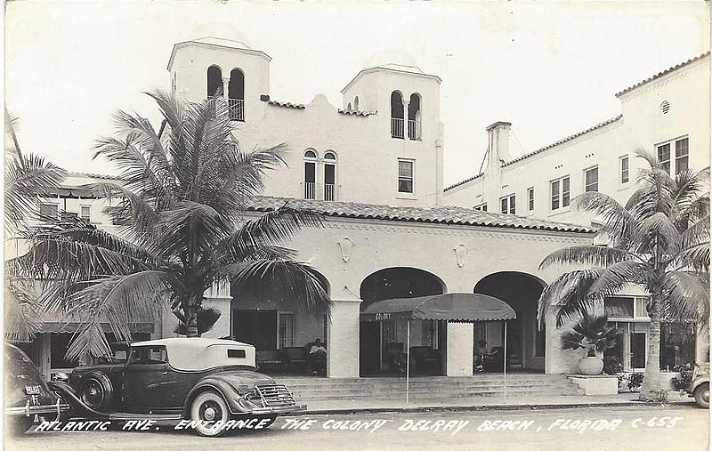 Colony Hotel Delray Beach History