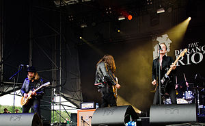 The Durango Riot - The Durango Riot at the Kosmonaut Festival. From left to right: Jacob Martinsson, Hakan Ficks, and Fred Andersson.
