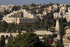Talbiya - View of Talbiya from the Old City of Jerusalem