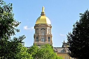 Main Building (University of Notre Dame) - Image: The Golden Dome