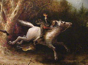 Detail of The Headless Horseman Pursuing Ichab...