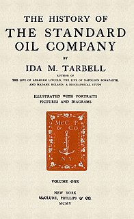 <i>The History of the Standard Oil Company</i> book by Ida Tarbell in 2 volumes