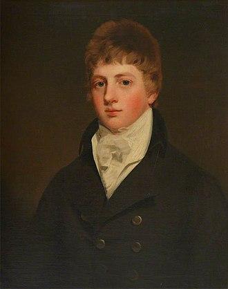 William Cavendish (English politician, born 1783) - William Cavendish (1783-1812), aged 16, by George Sanders after John Hoppner.