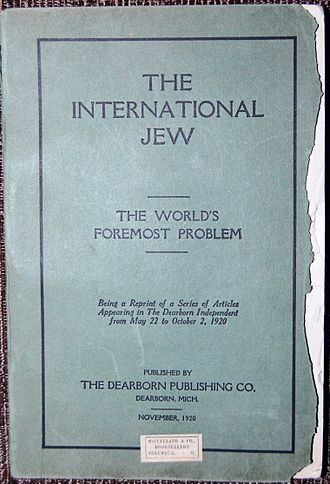The International Jew - The International Jew, Nov. 1920 - 1st Edition by Henry Ford