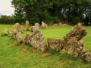 Rollright Stones - Part of the King's Men stone circle, one of three monuments that make up the Rollright Stones