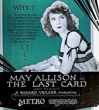 The Last Card - Image: The Last Card (1921) Ad 1