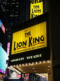 The Lion King at Minskoff Theatre in Broadway.jpg