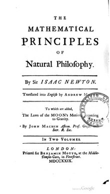 The Mathematical Principles of Natural Philosophy - 1729 - Volume 1.djvu