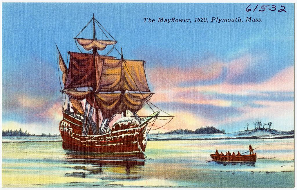 The Mayflower, 1620, Plymouth, Mass (61532)