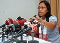 The Minister of State for Rural Development, Ms. Agatha Sangma addressing her first Press Conference at Guwahati, Assam on May 31, 2009.jpg