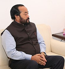 The Nagaland Home Minister, Shri Yanthungo Patton meeting the Minister of State for Home Affairs, Shri Hansraj Gangaram Ahir, in New Delhi on November 09, 2016 (cropped).jpg