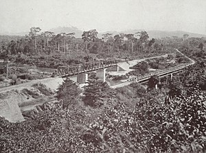 Ofin River - Bridge over the Ofin River in 1925
