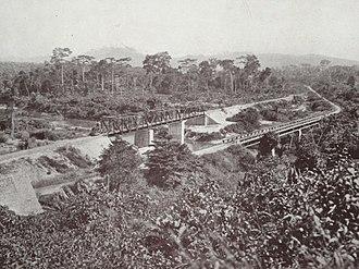 Ofin River - Bridge over the Ofin River in 1925