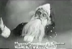 The Night Before Christmas (1905 film) - Santa Claus at the end of the film