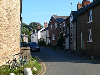 Llansilin village in Wales