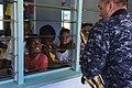 The Pacific Fleet Band entertains children in Savusavu, Fiji, during Pacific Partnership 2015 150612-N-HE318-085.jpg