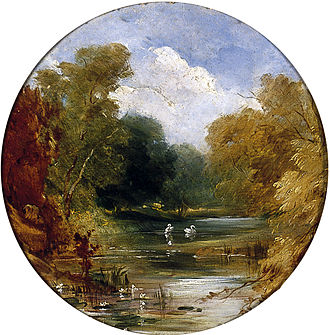 Acomb, North Yorkshire - The Plantation at Acomb, in 1842 by William Etty