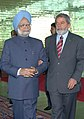 The President of Brazil Mr. Luiz Inacio Lula da Silva takes the Prime Minister, Dr. Manmohan Singh around the Alvorada Palace, before the signing of agreements, in Brasilia, Brazil, on September 12, 2006.jpg
