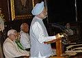 The Prime Minister, Dr. Manmohan Singh addressing at the Outstanding Parliamentarian Awards presentation ceremony, in New Delhi on September 13, 2007.jpg