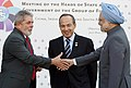 The Prime Minister, Dr. Manmohan Singh meeting the President of Brazil, Mr. Lula da Silva during the G-5 Summit, in L'Aquila, Italy on July 08, 2009.jpg