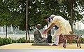 The Prime Minister, Shri Narendra Modi and the Prime Minister of Japan, Mr. Shinzo Abe pay tributes to Mahatma Gandhi, at Sabarmati Ashram, in Ahmedabad, Gujarat on September 13, 2017.jpg