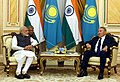 The Prime Minister, Shri Narendra Modi calls on the President of Kazakhstan, Mr. Nursultan Nazarbayev, in Astana, Kazakhstan on June 08, 2017 (1).jpg