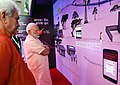 The Prime Minister, Shri Narendra Modi visiting exhibition at the launch of the India Post Payments Bank, in New Delhi.JPG