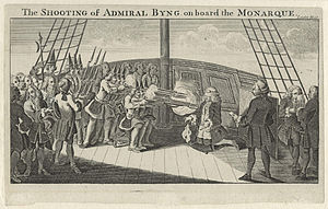 John Byng - The Shooting of Admiral Byng, artist unknown