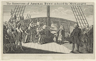 Thomas Fowke - The execution of Admiral Byng, March 1757; Fowke was dismissed for his role in this affair