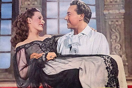 O'Hara with Paul Henreid in The Spanish Main in 1945 The Spanish Main 1945.jpg