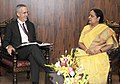 The Special Envoy for Climate Change, Department of State (US), Mr. Todd Stern meeting the Minister of State (Independent Charge) for Environment and Forests, Smt. Jayanthi Natarajan, in New Delhi on July 19, 2011.jpg