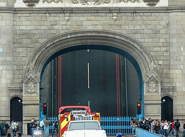 The Tower Bridge, London completely opened.jpg