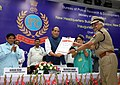 The Union Home Minister, Shri Rajnath Singh giving away the Union Home Minister's Medal for Best Police Trainer, on the occasion of inauguration of new HQs building of Bureau of Police Research and Development (BPR&D).jpg
