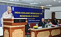 The Union Minister of New and Renewable Energy, Dr. Farooq Abdullah addressing the Indo-Iceland Workshop on Renewable Energy, in New Delhi on January 15, 2010.jpg