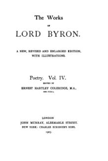 The Works of Lord Byron (ed. Coleridge, Prothero) - Volume 4.djvu