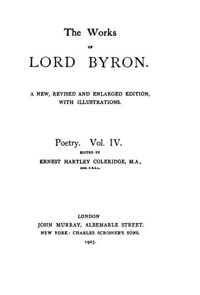 File:The Works of Lord Byron (ed. Coleridge, Prothero) - Volume 4.djvu