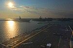 The amphibious assault ship USS Bataan (LHD 5) pulls into its home port at Naval Station Norfolk, Va., Oct. 4, 2013 131004-N-RB564-001.jpg