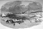 "The barque ""Sir Fowel Buxton"" on shore at Capin Assu, ILN 1853.jpg"