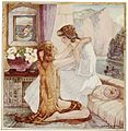 The meeting of the sisters. Illustration by Cecile Walton, 1920..jpg
