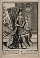 The newborn Prince of Asturias (future Louis I of Spain) being held by his mother Maria Luisa of Savoy, born Madrid 25 August 1707. Engraving, 1707.jpg