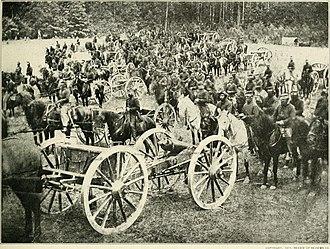 3rd Air Defense Artillery Regiment - Mixed formation of the 2nd and 3rd U.S. Artillery near Fair Oaks, Virginia.