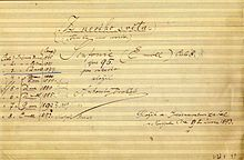 Title page of the autograph score of Dvořák's Ninth Symphony (Source: Wikimedia)